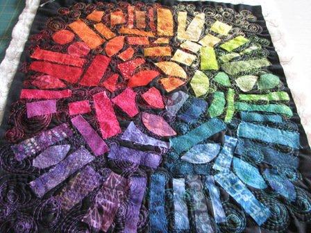 Color Wheel Quilt at Crafty Girls Workshop
