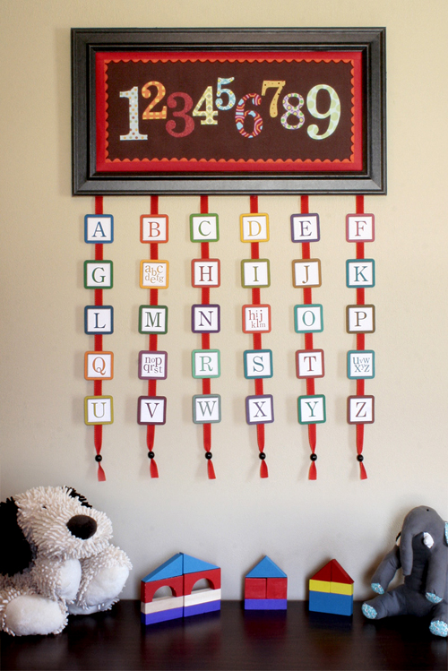 Abcs And 123S Wall Hanging | Craft Buds