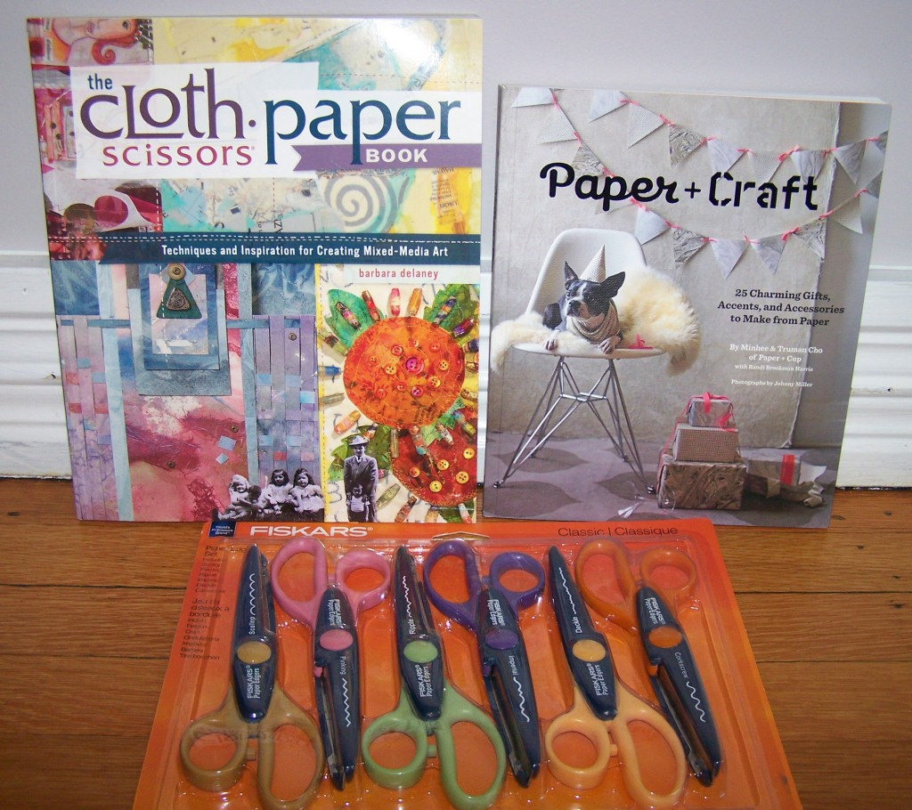 Paper Crafting Books + Scissors