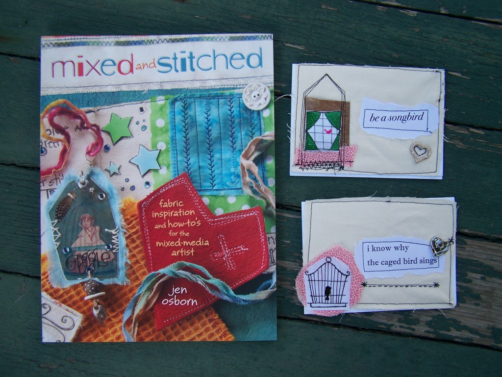 Mixed and Stitched book and cards