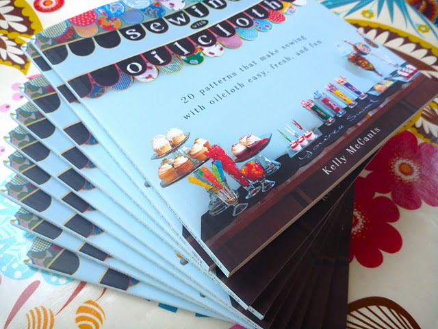 Sewing with Oilcloth book stack