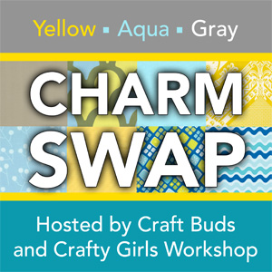 Yellow, Aqua & Gray Charm Swap!