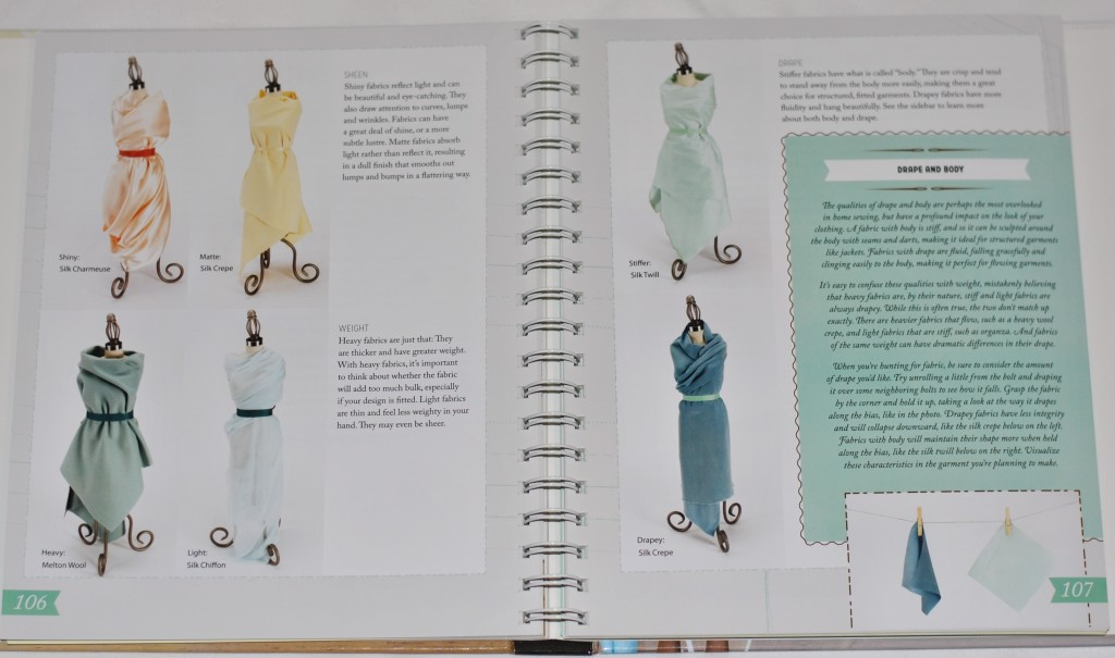 Colette Sewing Handbook Fabric Drape