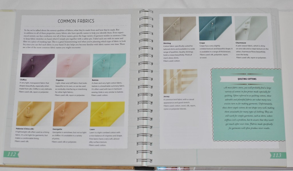 Colette Sewing Handbook Fabric Types