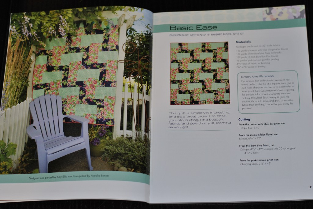 Modern Basics book: Basic Ease quilt