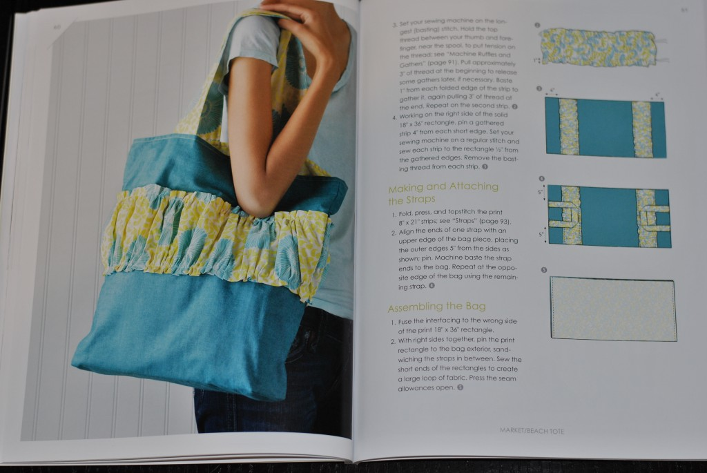 Make it Sew Modern book - tote bag