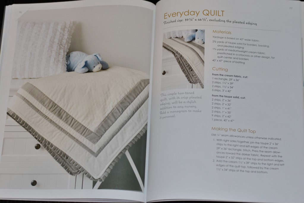 Make it Sew Modern book - pleated edge quilt