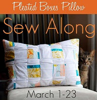 Craft Buds Pleated Boxes Pillow Sew Along