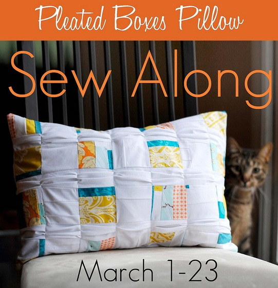 Pleated Boxes Pillow Sew Along Large