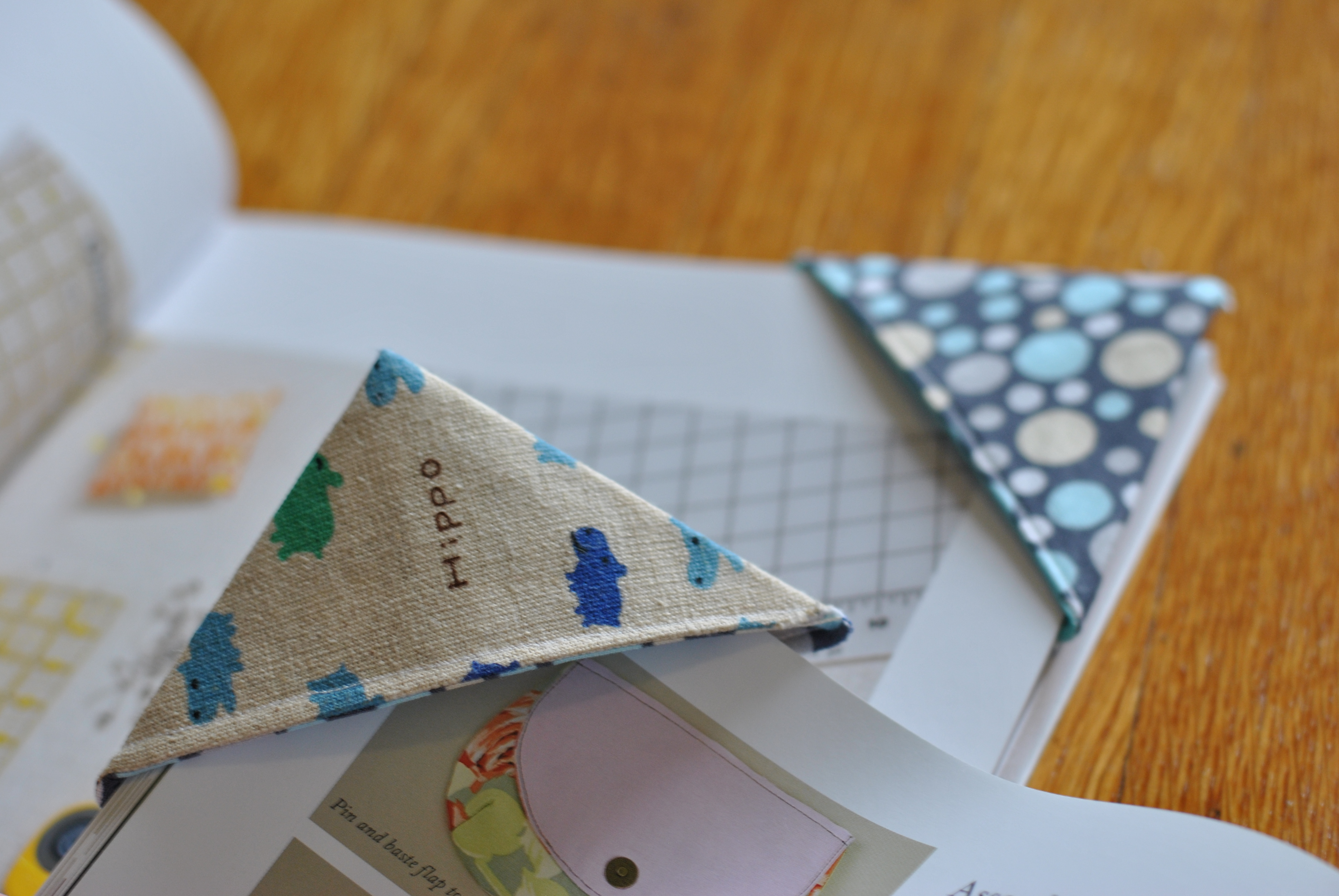 Fabric Corner Bookmarks Craft Buds