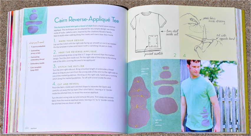 Improv Sewing Reverse Applique Tee