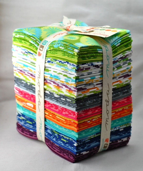 Simply Color fat quarter bundle Moda V&Co