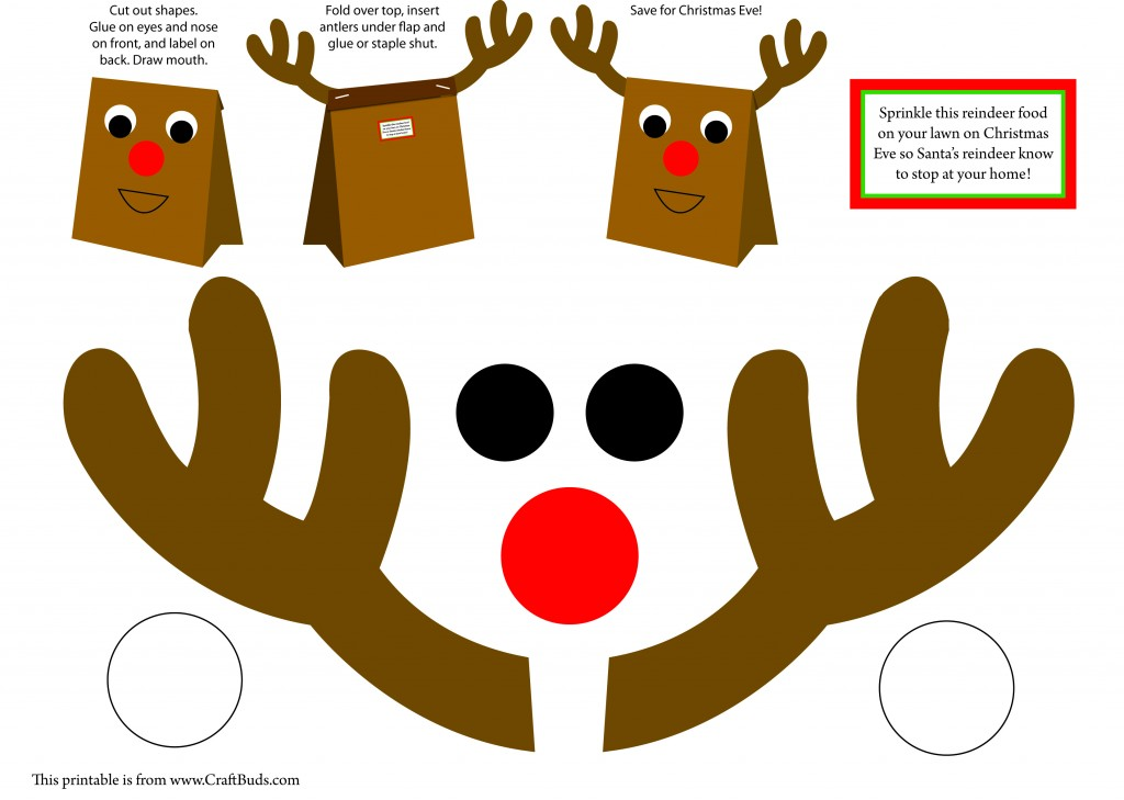 ... Galleries: Reindeer Head Template Printable , Reindeer Face Pattern