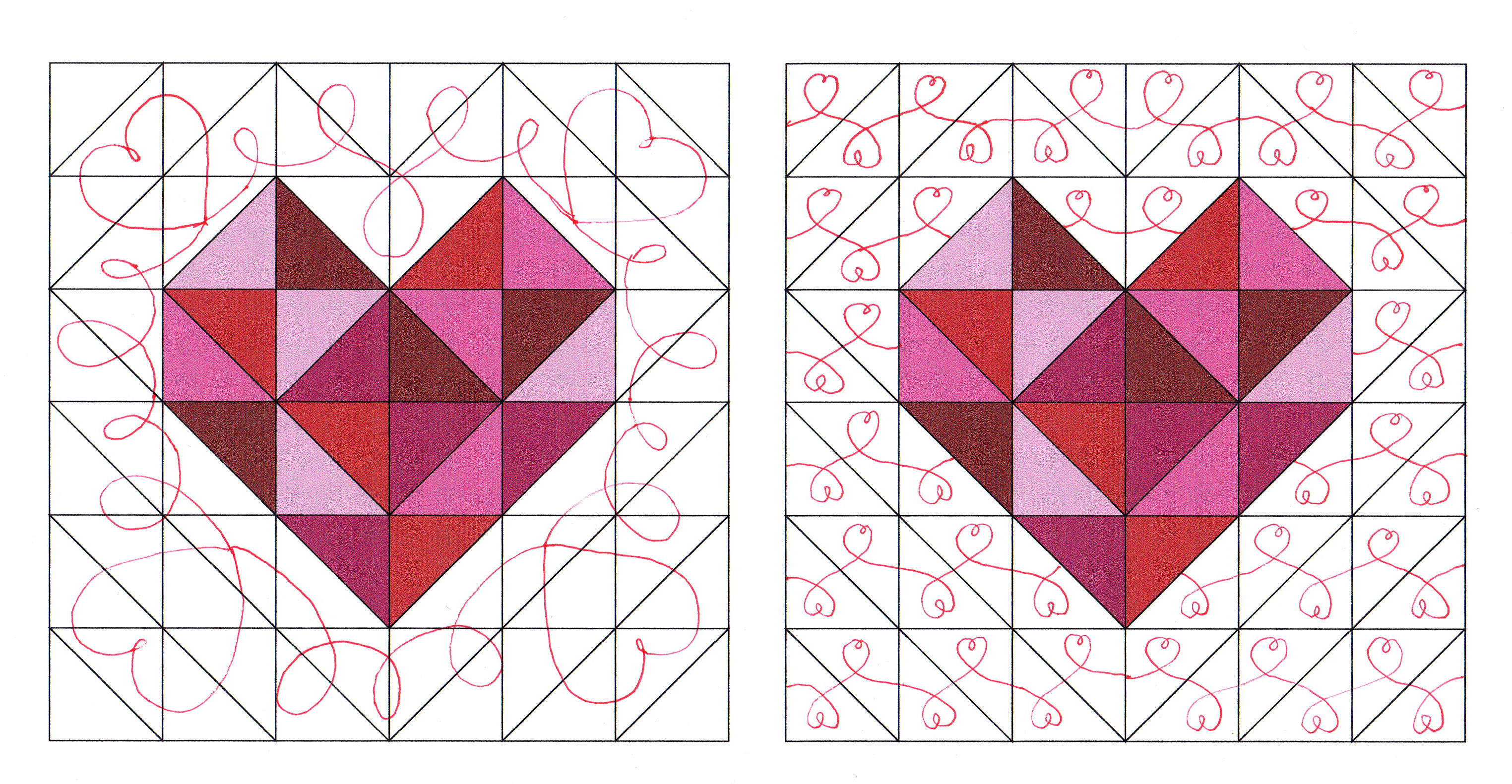 Free Motion Quilting Designs Hearts : heart quilt block Craft Buds