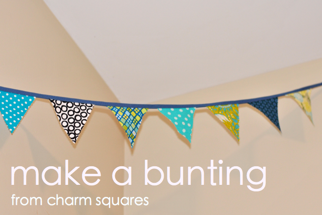 how to make a bunting from fabric squares
