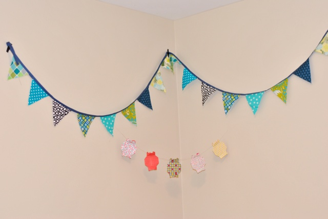how to make a charm square bunting