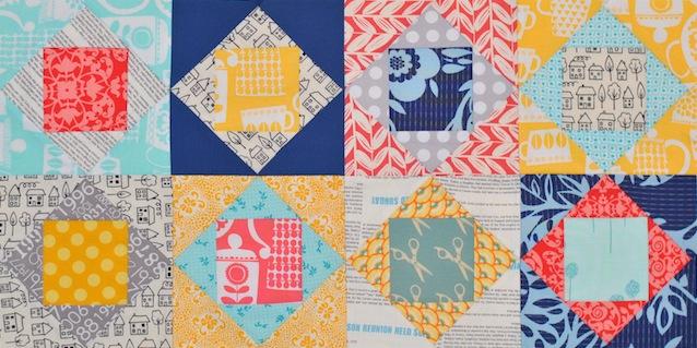 Square In Square Quilt Block Paper Piecing Tutorial