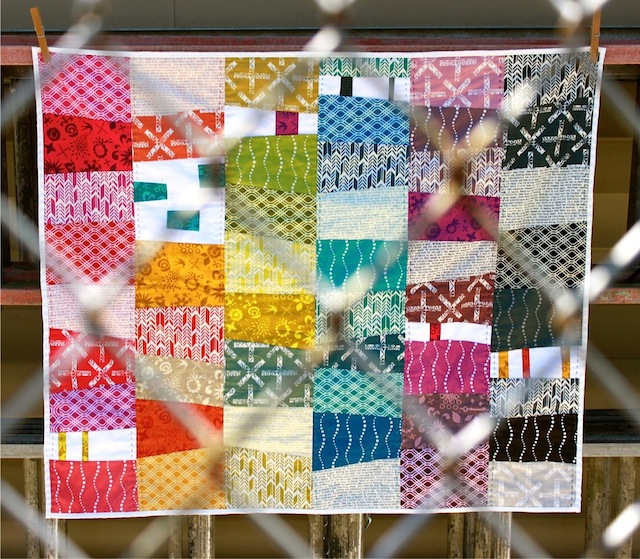 Alison Glass quilt with fence