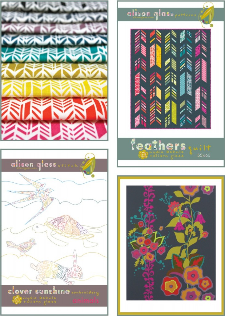 Alison glass fabric and prints
