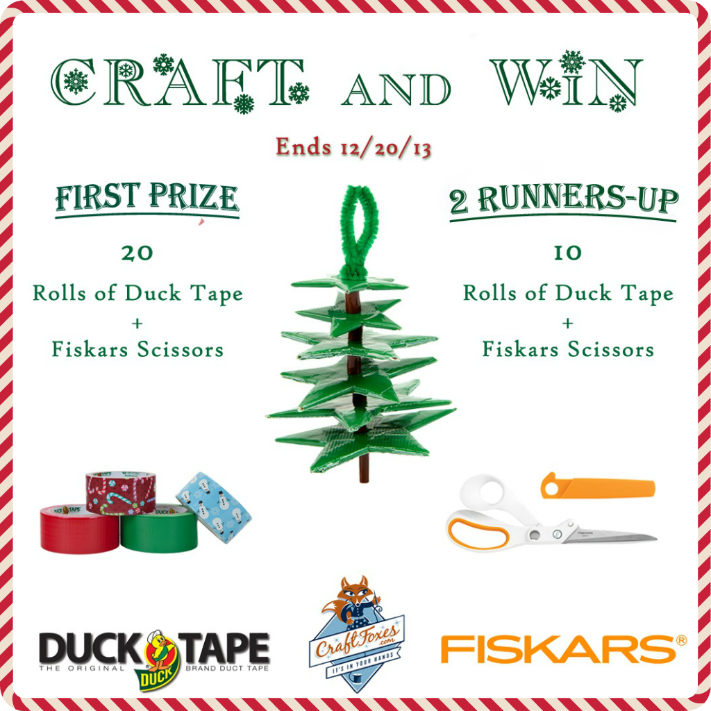 Craft It and Win! Duck Tape® Holiday Ornament Contest - Craftfoxes
