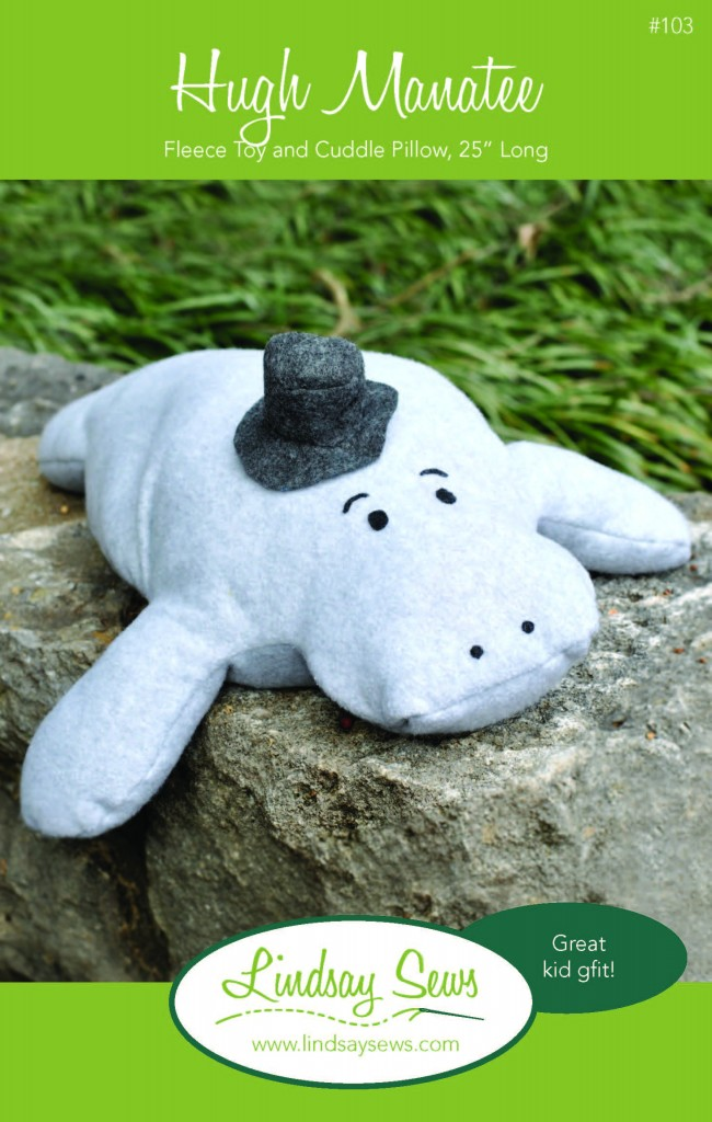 Hugh Manatee Stuffed Animal Sewing Pattern