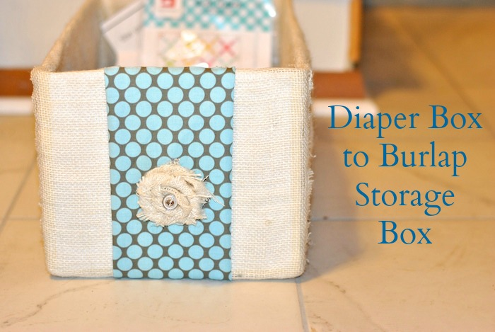Diaper Box Fabric Covered