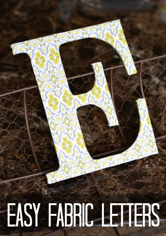 Easy Fabric Letters