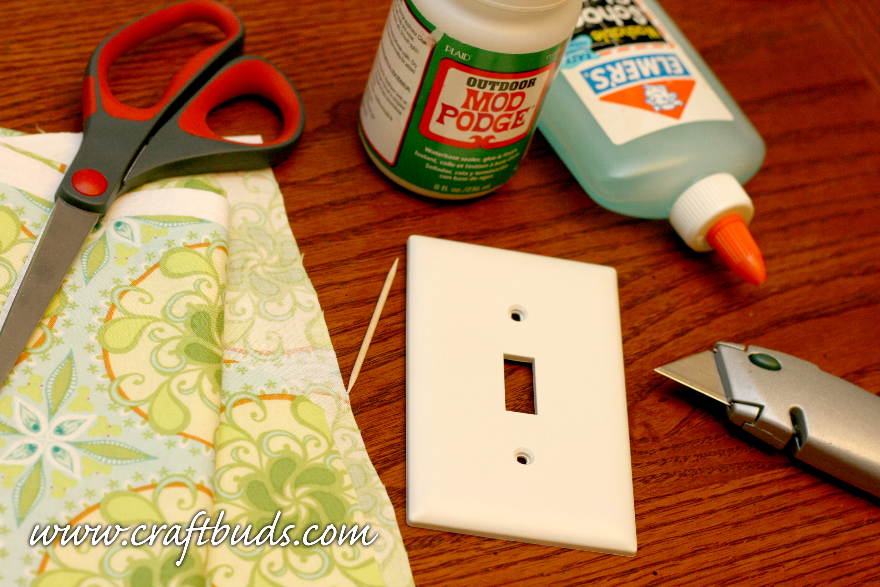 materials to make your own light switch
