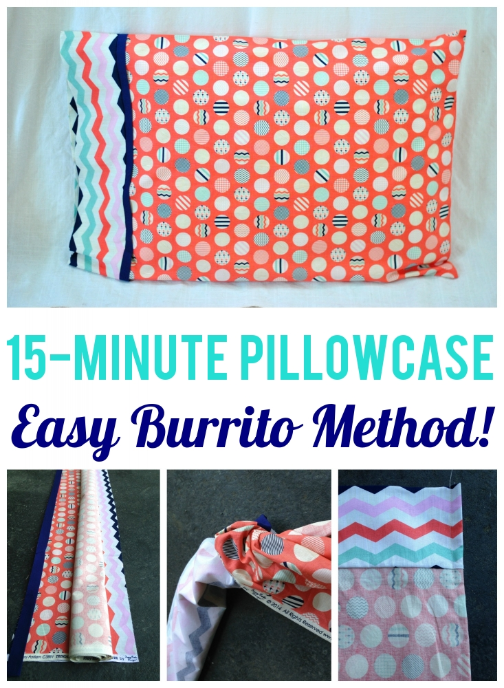 "15-Minute ""Burrito"" Pillowcase Tutorial"