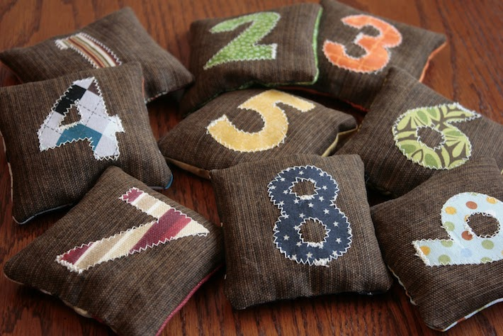 1 Hour Sewing Project: Number Bean Bags