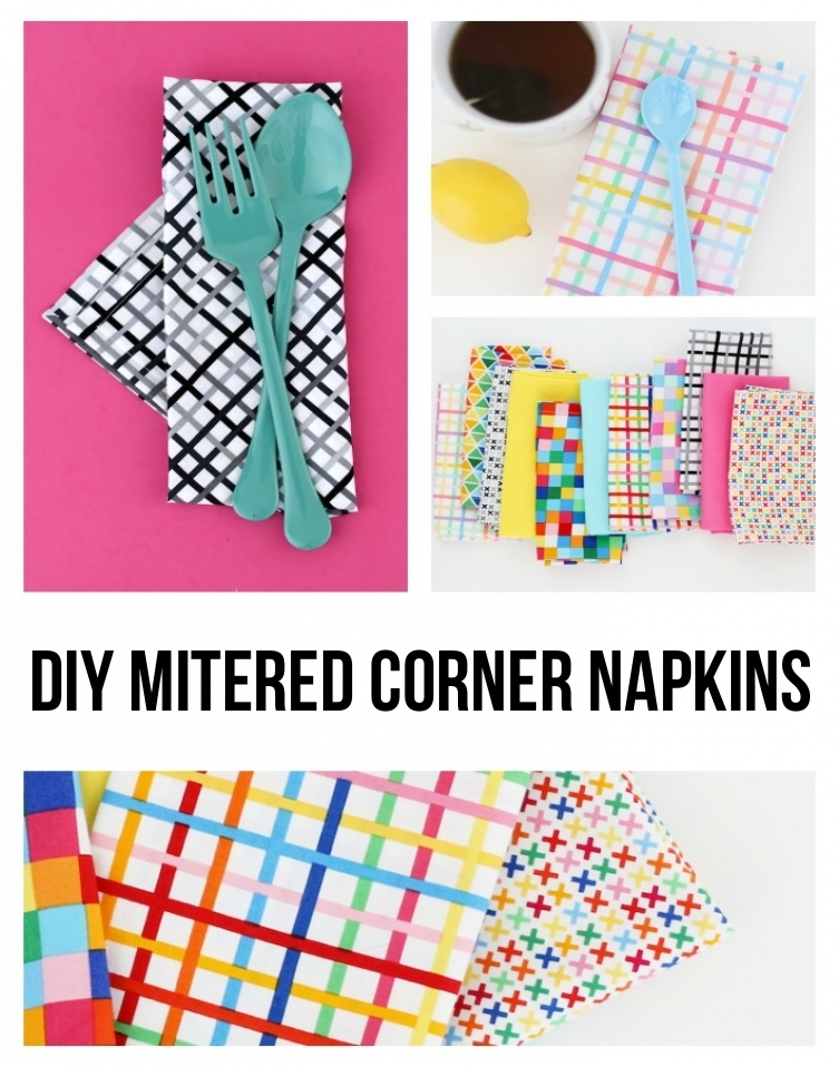Mitered Corner Napkins