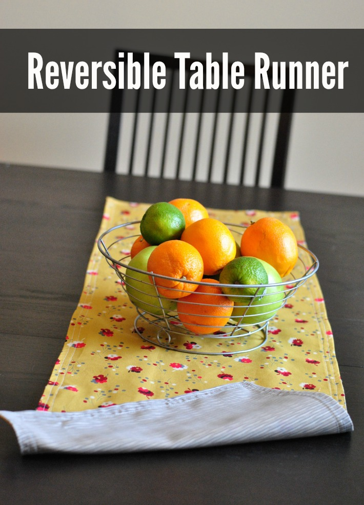 Reversible Table Runner: 1- Hour Sewing Pattern!
