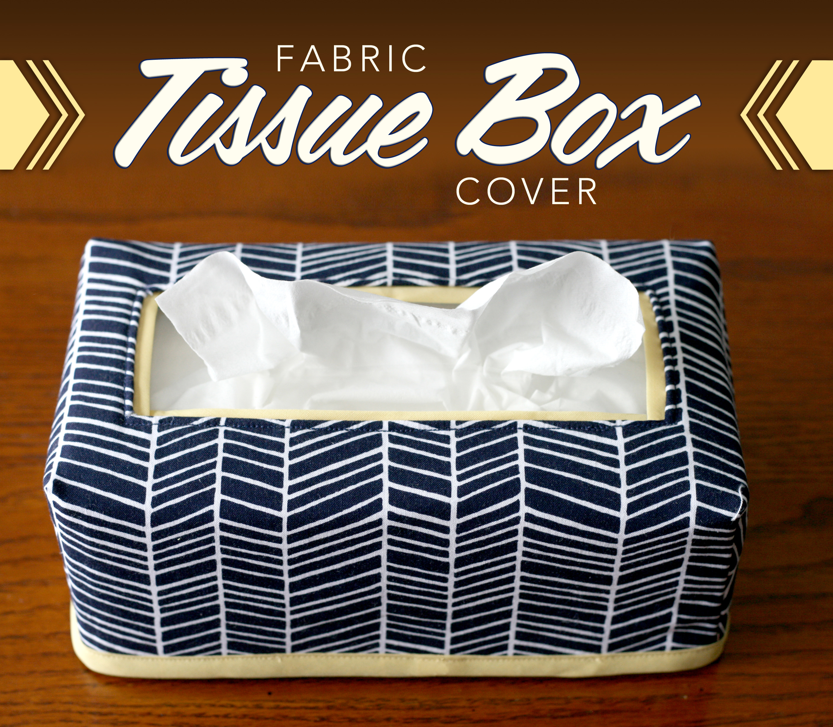 fabric tissue box cover craft buds