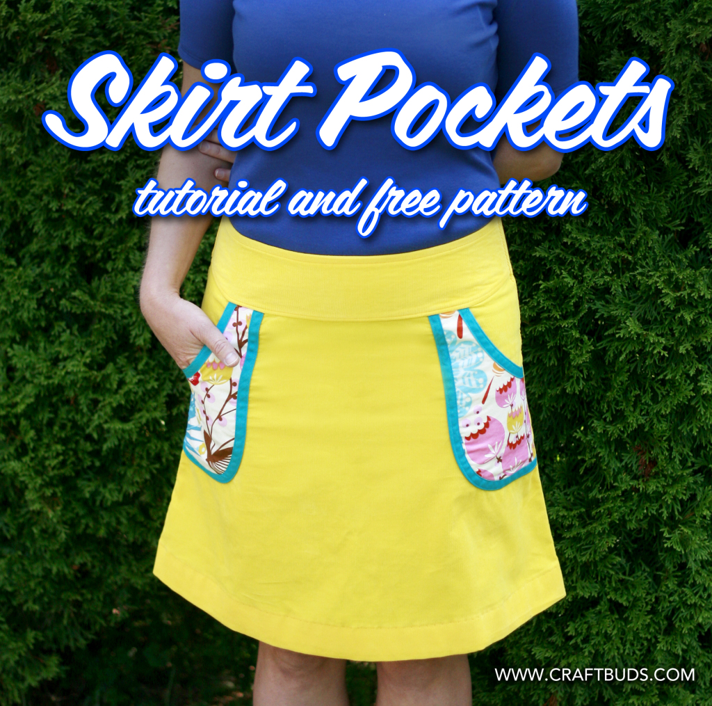 Adding Pockets to ANY Skirt! Tutorial + Free Pattern