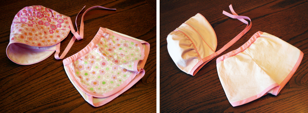 Peekaboo Bonnet and City Gym Shorts Front-Back