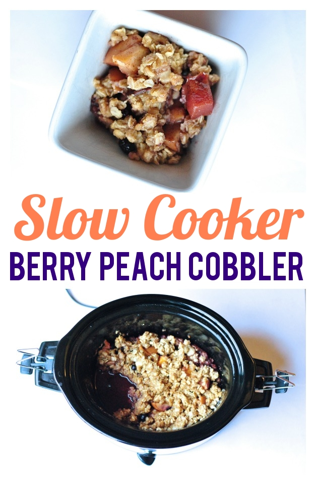 Crockpot Recipe: Easy Berry Peach Cobbler Recipe in the Slow Cooker