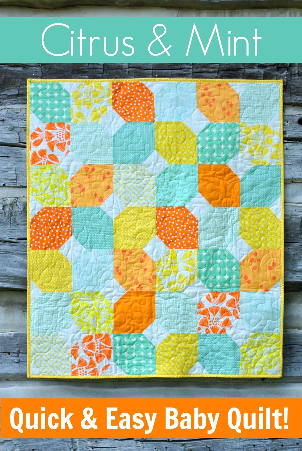 Citrus & Mint: Quick & Easy Baby Quilt + Free Pattern | Craft Buds