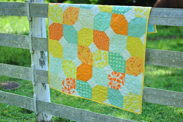 Citrus And Mint Baby Quilt Free Pattern Craft Buds