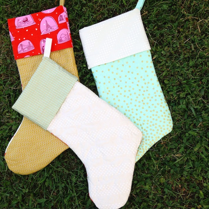 Holly Jolly Stocking Pattern: Quilted Christmas Stocking Tutorial