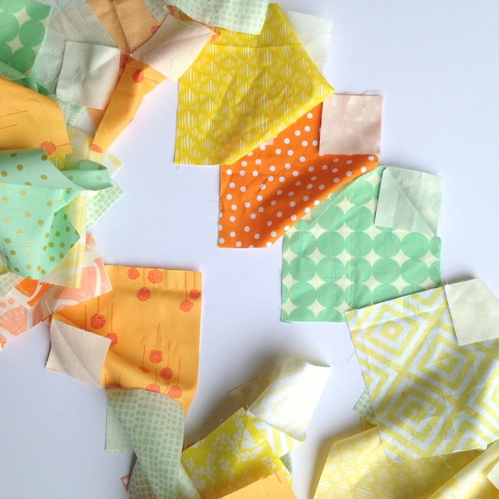 Half Snowball Quilt Block Tutorial
