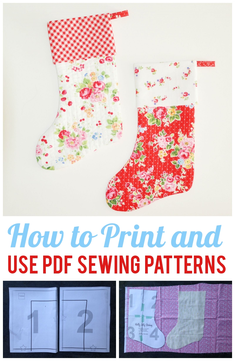 How to Print + Use PDF Sewing Patterns | Craft Buds