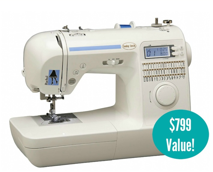 Win A Baby Lock Rachel Sewing Machine 40 Value Craft Buds Enchanting Sewing Machine Giveaway 2015