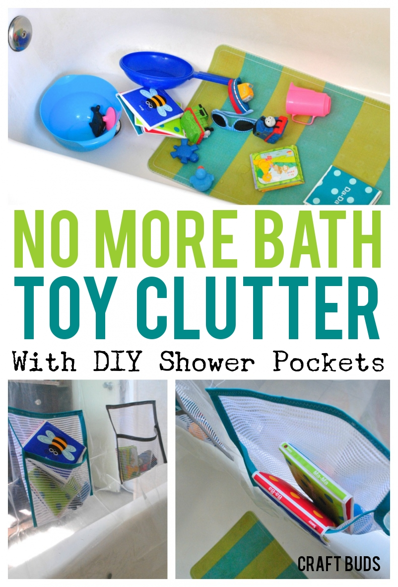 Sew DIY Shower Curtain Pockets - Craft Buds