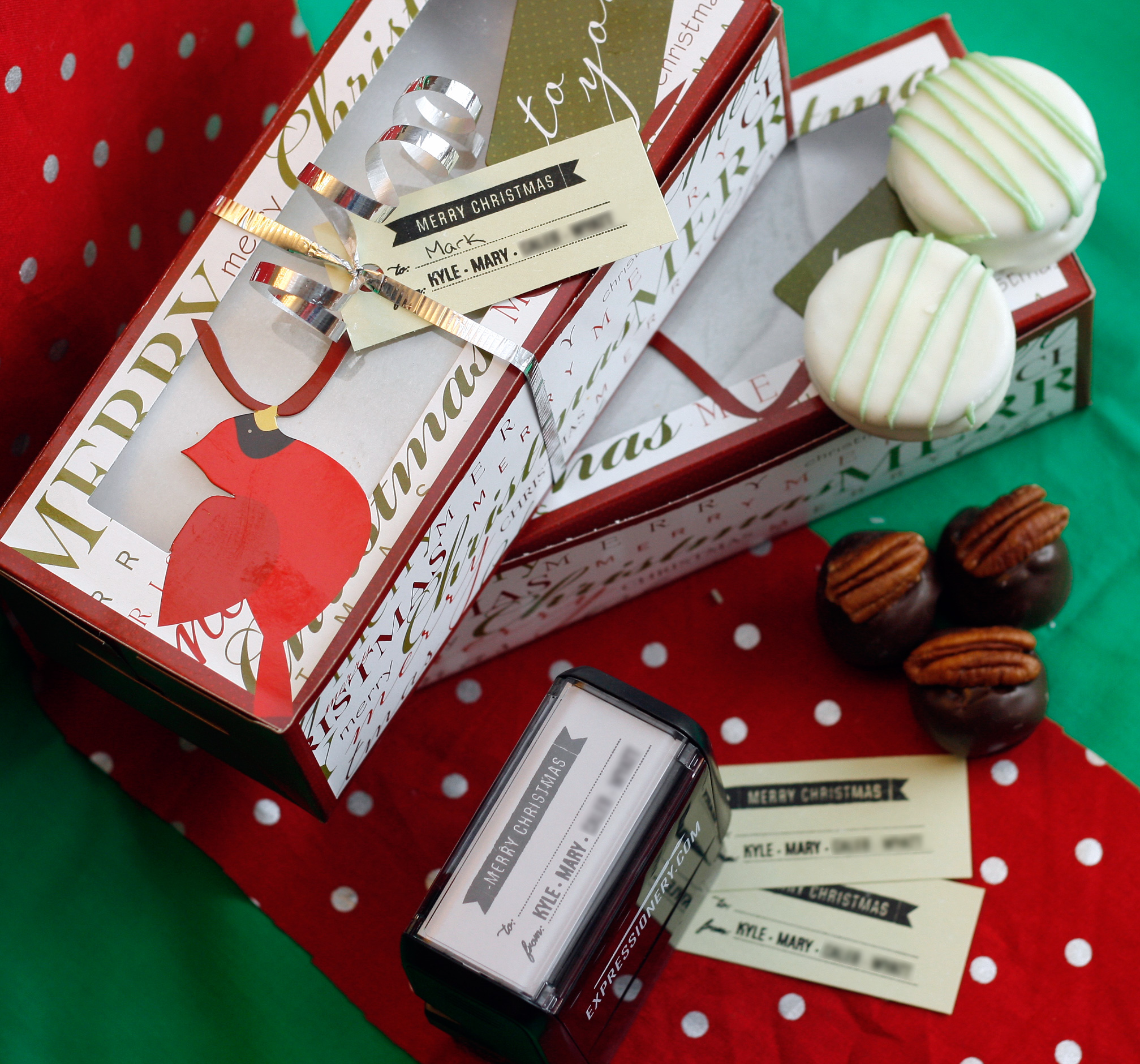 Stamped Christmas Gift Tags With Expressionery