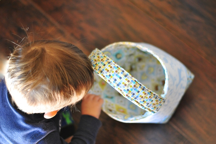 Fabric Easter Basket Sewing Pattern