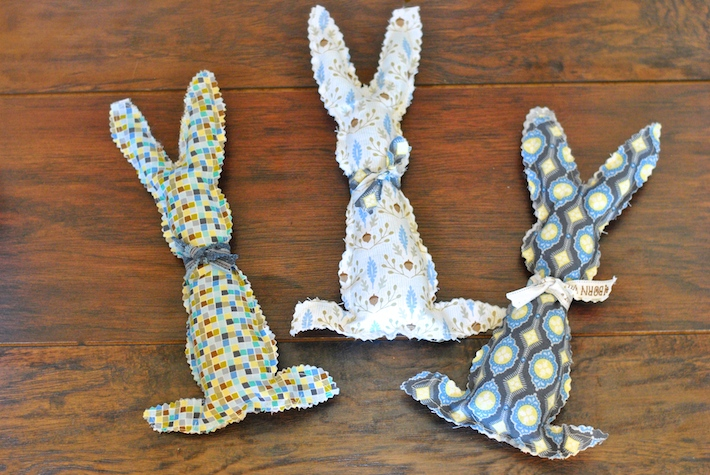 Fabric Easter Bunnies with Blend Fabrics