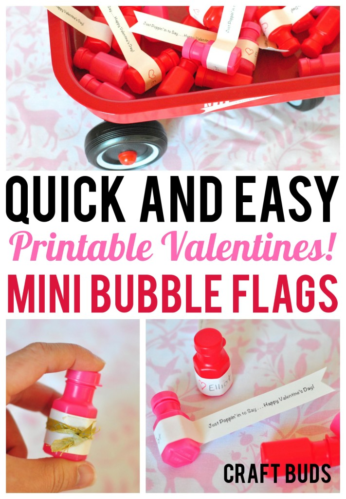 Free Valentine Printable Kids Classroom Bubbles - Craft Buds