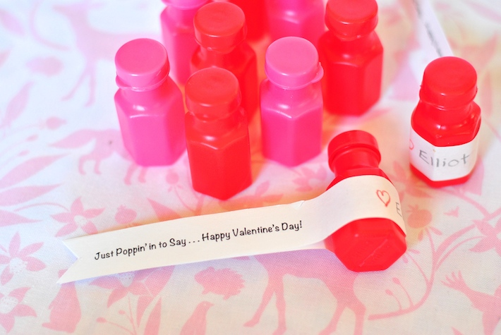 Free Valentine Printable - Kids Bubbles (Non-Candy Valentine) - Craft Buds