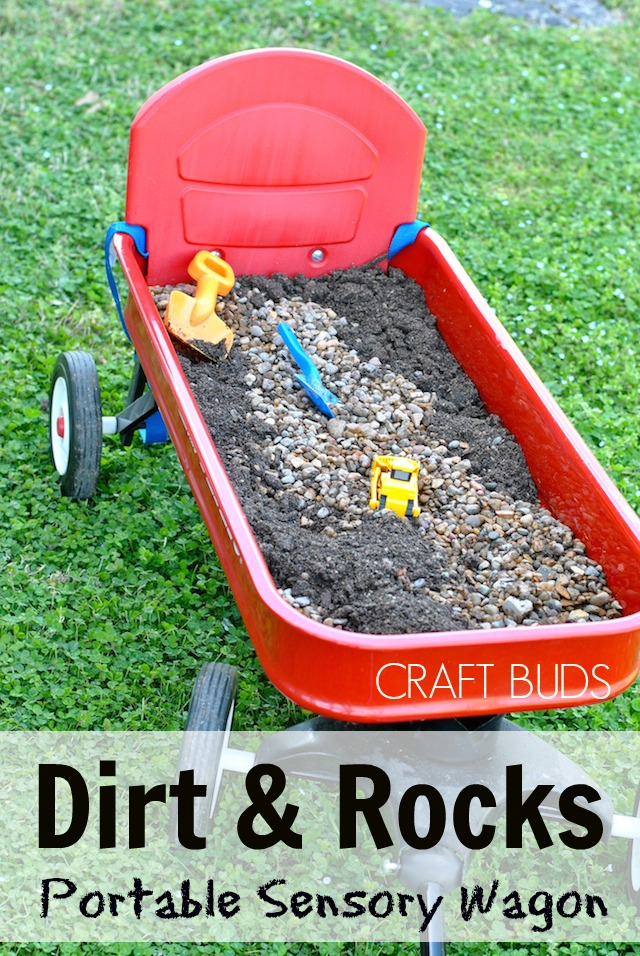 Dirt and Rocks Portable Sensory Bin - Craft Buds