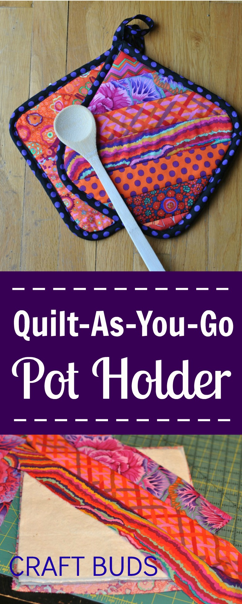Quilt-As-You-Go Pot Holder - Craft Buds